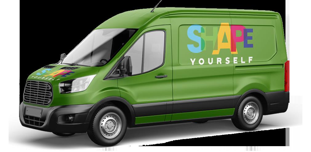 furgone consegna cibi shape your self
